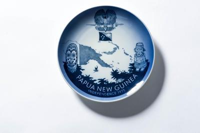 Plate- Commemorative.  Papua New Guinea Independence