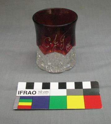 Red and Clear Glass Goblet; Circa 1911; H48973