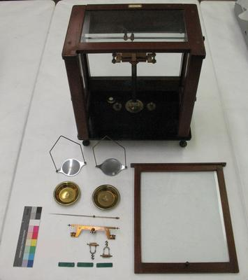 Brass Beam Balance Scales in Case