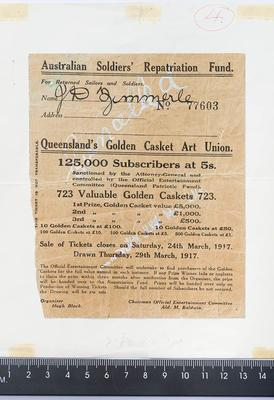 Document, Golden Casket Art Union