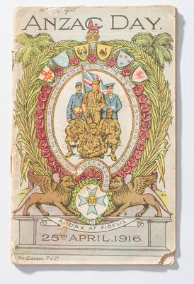 ANZAC Day booklet for classes V and VI 1916; 1916; H49340