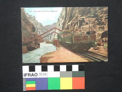 "Postcard - ""Observation Car in the Royal Gorge, Colo."""