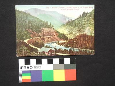 "Post Card - ""3298 - Belden, California, Grand Canyon of the Feather River"""