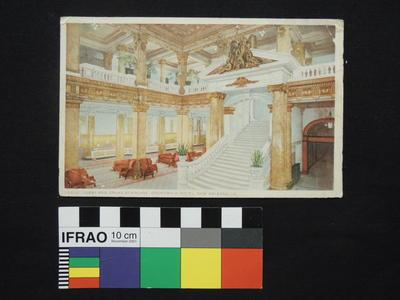 "Postcard - ""Lobby and Grand Staircase, Grunewald Hotel, New Orleans, LA."