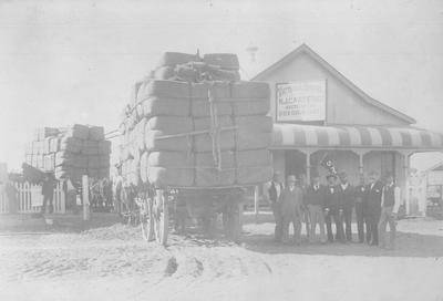 "Photo - ""The first loads of wool to leave Cunnamulla by train"""