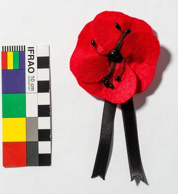 Red felt poppy - souvenir Gallipoli centenary 2015