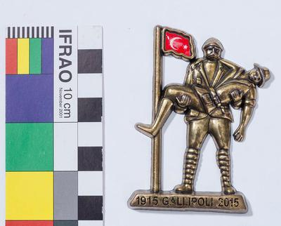 Turkish soldier metal figure magnet souvenir Gallipoli centenary 2015