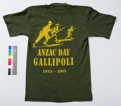 Green T-shirt - souvenir Gallipoli Centenary 2015