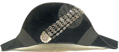 Hat - Bicorne with silver chain