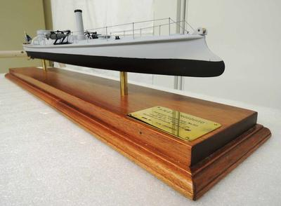 Scale-model of torpedo boat H.M.Q.S. 'Mosquito'