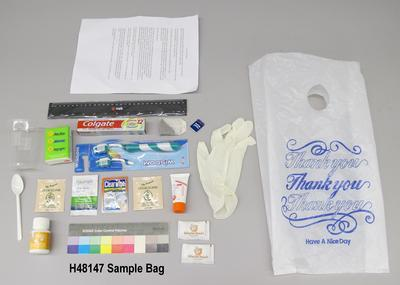 """Thank you"" party sample bag"