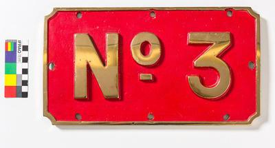 "Number Plate - ""No. 3"""