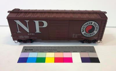 Model - Northern Pacific Railway Boxcar