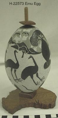 Carved Emu Egg