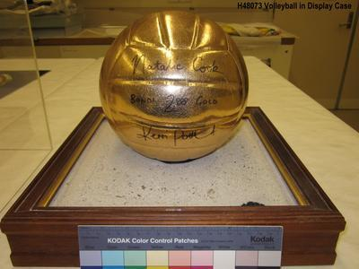 Gold volleyball signed by Olympic medalists