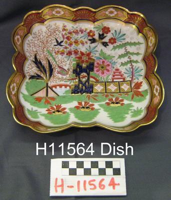 Square Dish; 1813-1840; H11564
