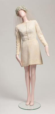 Wedding Outfit worn by Janet Hogan; 1969; H2742