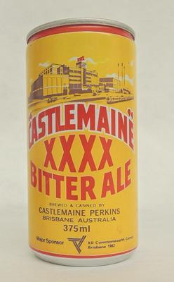 Castlemaine XXXX Beer Can; 1982; H49612