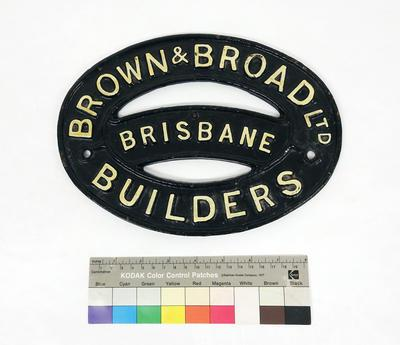 Builder's Plate - Wagon; R6806