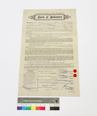 Boilermakers Form of Indenture 1956