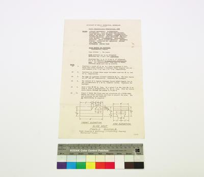 Annual Apprenticeship Examination 1956 - Trade Drawing and Sketching (Introductory Course)
