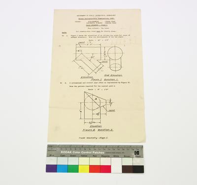 Annual Apprenticeship Examinations, 1957 - Trade Geomety  - Stage I