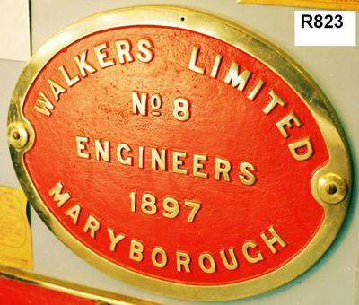 Builder's Plate - B15 Converted Class Locomotive No.306