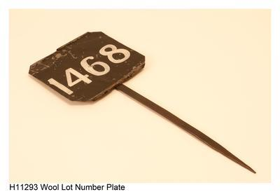 Wool Lot Number Plate