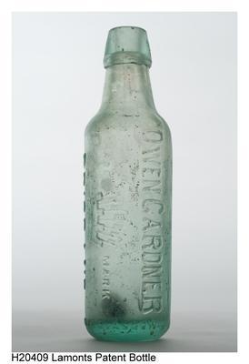 Lamonts Patent Bottle; H20409
