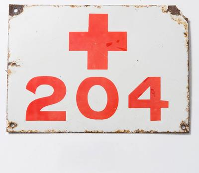 Red Cross Vehicle Number Plate (WW1)