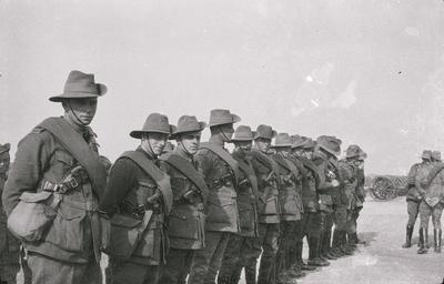 Photographic negative - soldiers