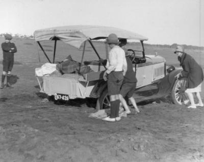 Photograph - T-Model Ford Motor Car bogged