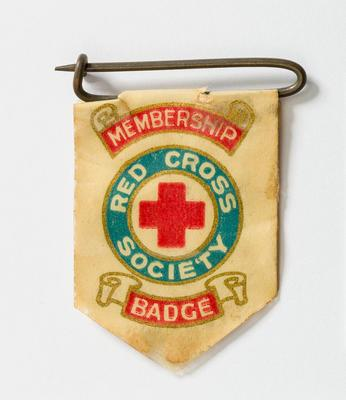 Badge Flag. Red Cross Soc. 1918-19