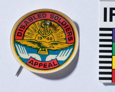 Button Badge, Disabled Soldiers Appeal 1948