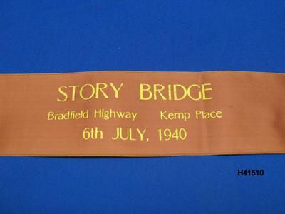 Opening Ribbon for the Story Bridge