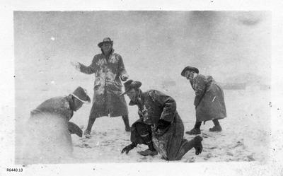 Photograph - Australian Soldiers having snow fight