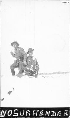 Photograph - Two Australian Soldiers in the snow; R6440.19