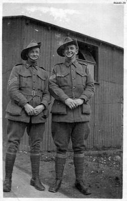 Photograph - Two Australian Officers; R6440.29