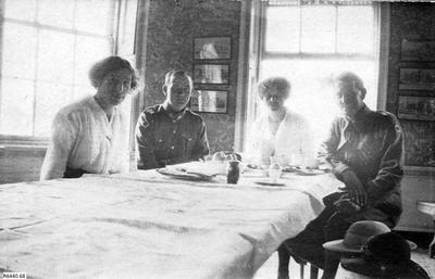 Photograph - Afternoon tea at Wardour Castle; 13 May 1917; R6440.68
