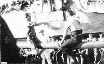 Photograph - Pillow fight onboard troop ship; 1917; R6440.86
