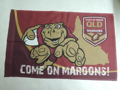 Flag - State of Origin supporter flag for the Queensland Maroons team; 2014; H48853