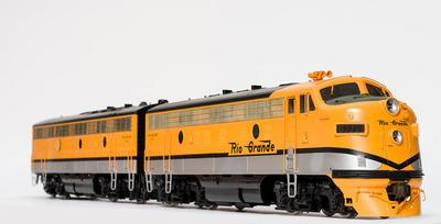 Model - Denver and Rio Grande Western Railroad F9 Diesel Locomotive
