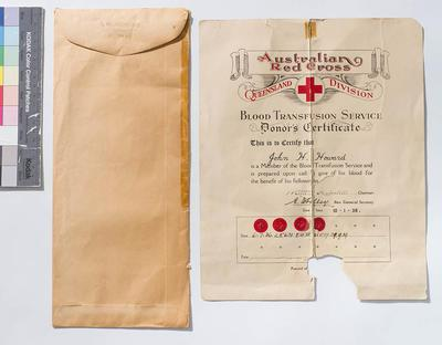 Donor's certificate, Red Cross; 1936; H47764
